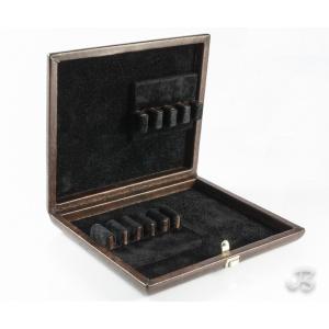 Coffret cuir pour anches : 5 hautbois et 4 cor anglais